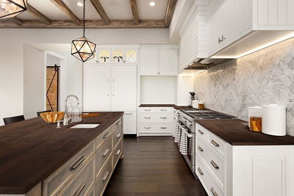 Picture of Acacia Wood Kitchen Countertop