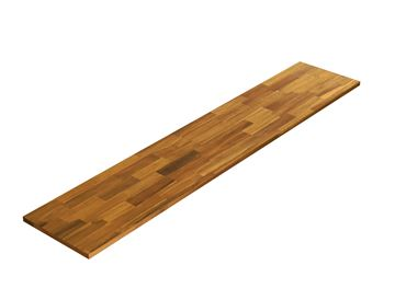Picture of Acacia Kitchen Shelf - Golden Teak 12inch x 60inch x 0.71inch