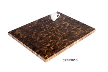 Picture of 32 inch x 25.5 inch x 1.5 inch Butcher Block Cutting Boards Espresso
