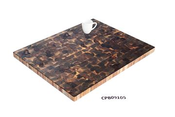 Picture of Large Brown Butcher Block Cutting Board