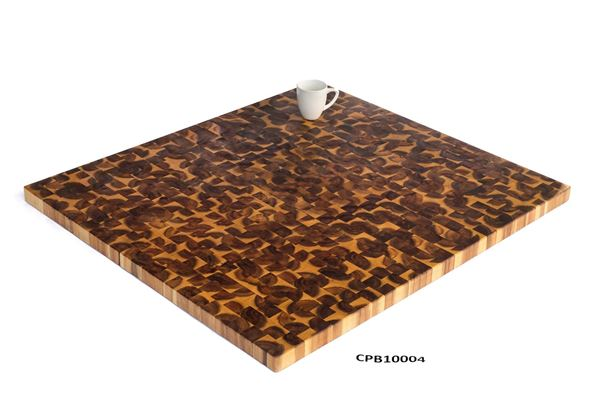 Picture of Large Golden Teak Butcher Block Cutting Board