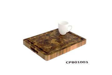 Picture of 12 inch x 16 inch x 1.5 inch Butcher Block Cutting Boards Brown