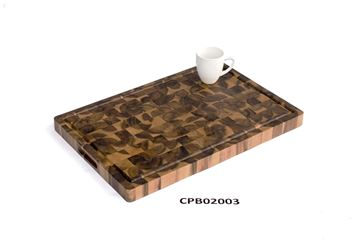 Picture of 16 inch x 24 inch x 1.5 inch Butcher Block Cutting Boards Brown