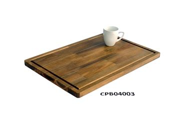 Picture of 16 inch x 24 inch x 1 inch Butcher Block Cutting Boards Brown