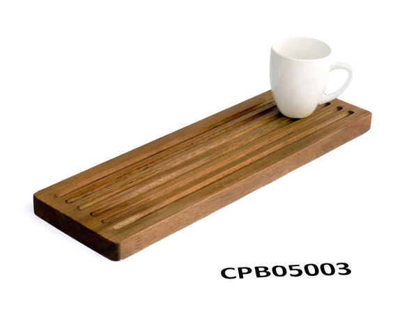 Picture of Long Brown Butcher Block Cutting Board