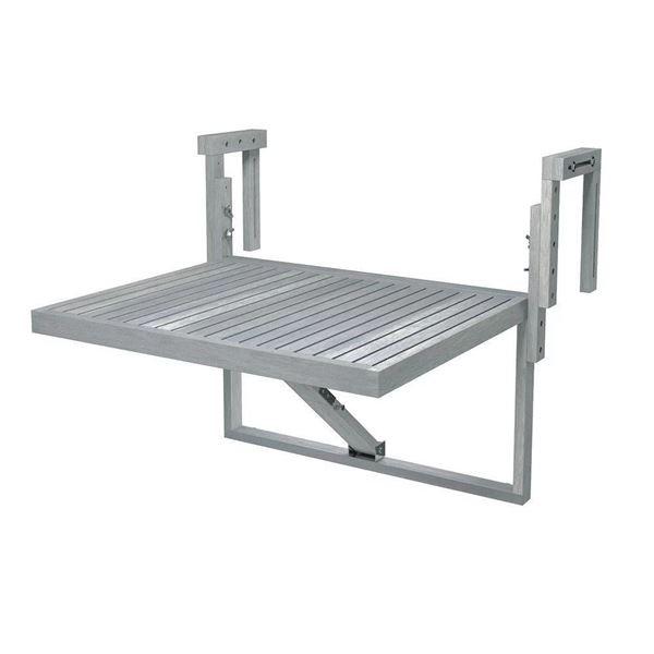Dusk Grey TORONTO Acacia Balcony Railing Table