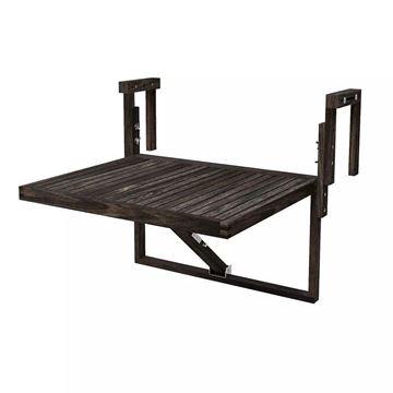 Espresso TORONTO Acacia Balcony Railing Table