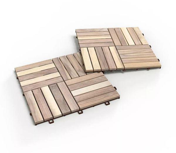 Organic White Deck Tiles