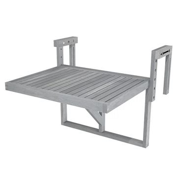 Dusk Grey STOCKHOLM Acacia Balcony Railing Table