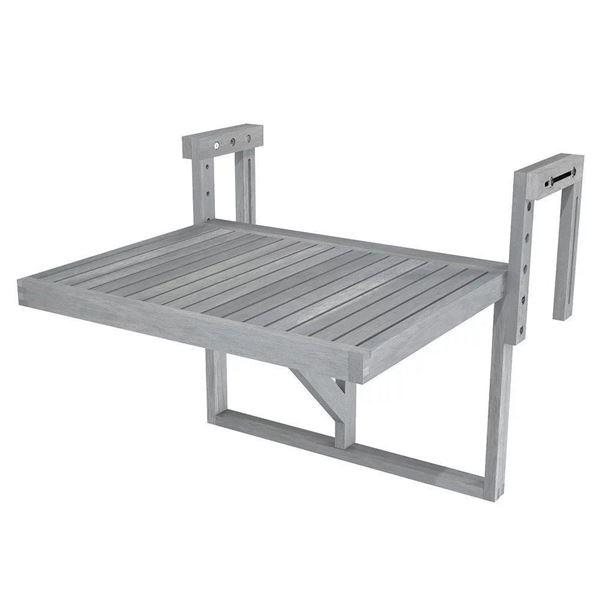 Dusk Grey STOCKHOLM Acacia Balcony Railing Table
