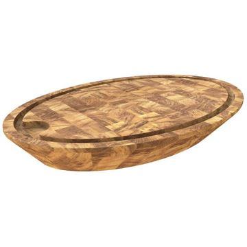 Clear SAMURAI Oak Butcher Block Cutting Board