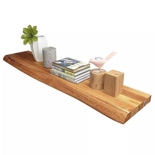 Golden Teak Floating Shelf
