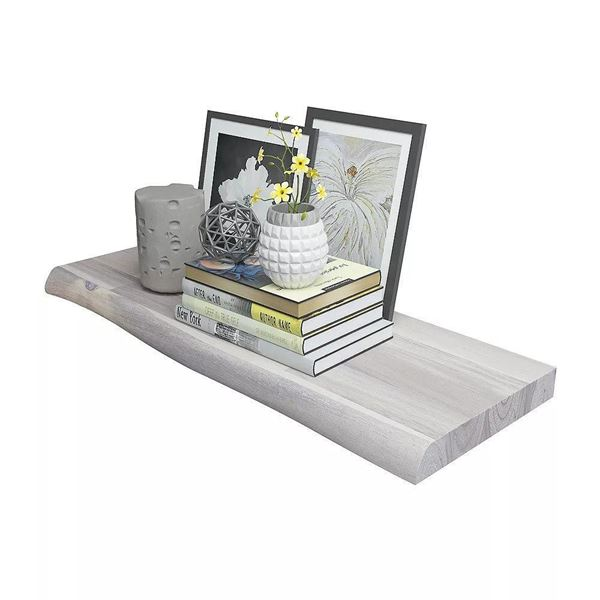 Organic White Floating Shelf