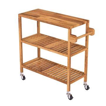 Golden Teak Acacia Kitchen Cart